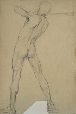 Figure Drawing, Male, Back View. David Ghilchik