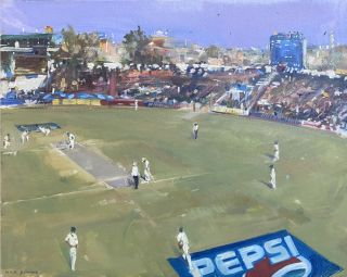 2nd Test, England in Pakistan 2000. Nick Botting