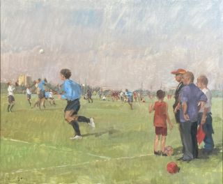Sunday Morning Football on Hackney Marshes. Nick Botting