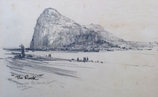 The Rock of Gibraltar 1943. Harold Herbert