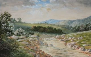 Landscape North East Victoria 1899. John Stirling Moore