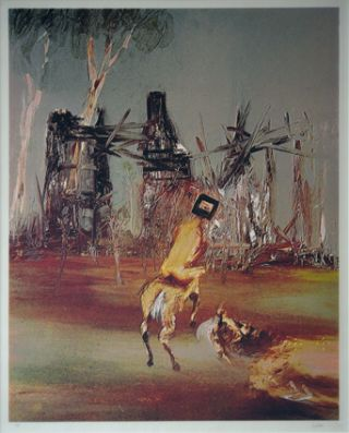 Kelly and Policeman at Glenrowan. Sidney Nolan