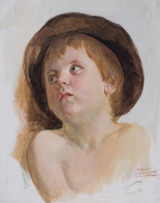 Young Child, Rome 1882. Friedrich Geselschap
