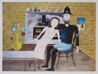 Constable Fitzpatrick and Kate Kelly. Sidney Nolan