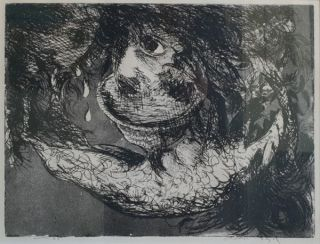 Head in a Cup with Crying Head 1962. Arthur Boyd