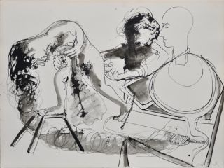 Potter and His Model 1969. Arthur Boyd