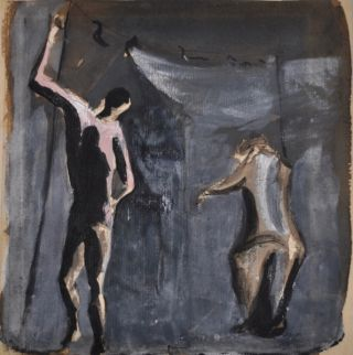 Study of Acrobats c1940. Vic O'Connor