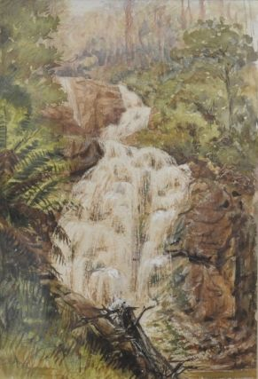Stevensons Falls, Victoria c1890. Charles William Hamilton Dicker