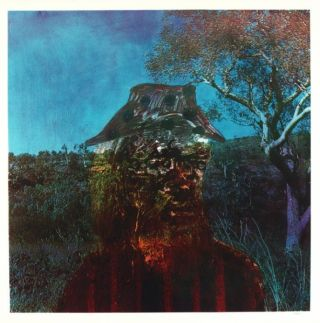 Landscape, Miner and Tree 1973. Sidney Nolan