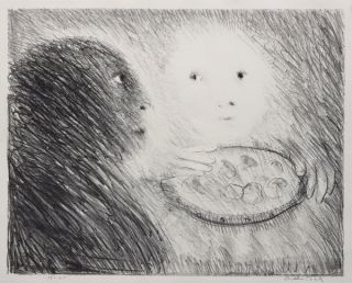 Saint Clare Offering Marzipan to St. Francis. Arthur Boyd