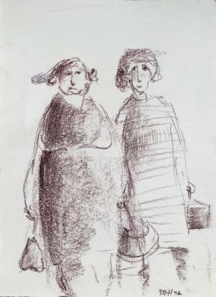 Two Shoppers 1972. Mary Hammond