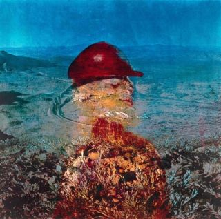 Landscape - Miner With Red Helmet 1973. Sidney Nolan