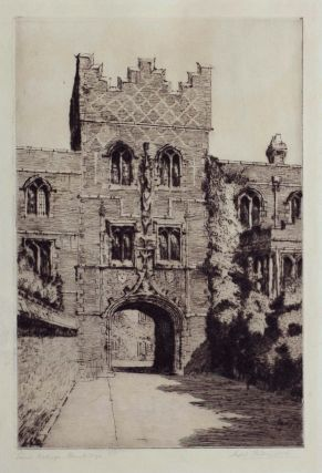 Jesus College, Cambridge c1923. Sybil Andrews