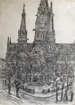 St Patricks' Cathedral 1996. Jan Senbergs