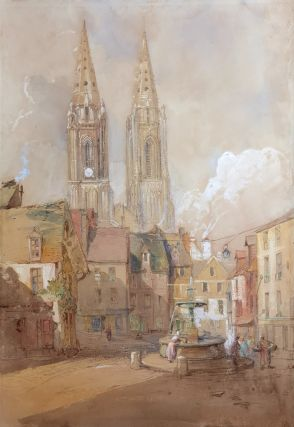 Fountain Near A Cathedral. John Skinner Prout