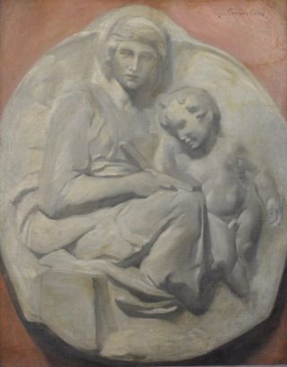 Relief Sculpture after Tondo Pitti by Michelangelo c1880. Charles D. Richardson