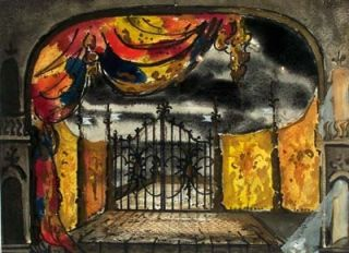 Set Design for Hamlet, Old Vic. Kenneth Rowell