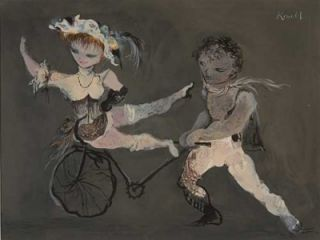 Dancers with Unicycle 1951. Kenneth Rowell