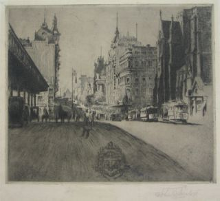 The Gate of the City, Melbourne 1924. John Shirlow