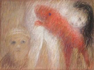 St. Francis with Red Dog and Nude. Arthur Boyd