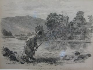 Trout Fishing on the Conway, North Wales. Alfred William Strutt
