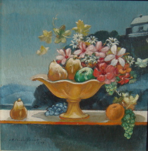 Flowers and Fruit in Sunlight 1967. Adrian Feint