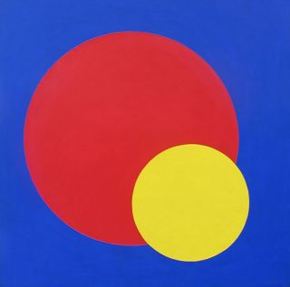 Study in Violet with Red and Gold Circles 1965-70. Clifford Bayliss